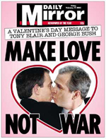Bush hearts Blair Happy Valentines Day