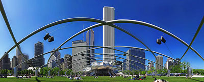 Priztker Pavillion Millennium Park Chicago - click for more photos by crouch
