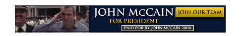 why is john mccain advertising on my blog