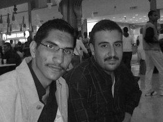 Ali Fadhil (l) with Mustafa Kamil