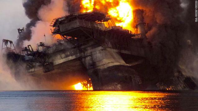 deepwater horizon fire photo by U.S. Coast Guard