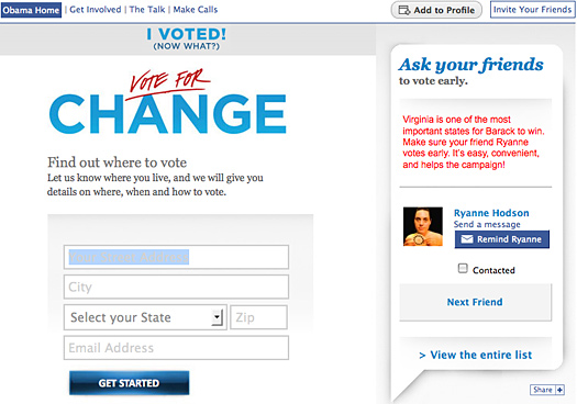 Obama Facebook App, Swing States, and Your Friends