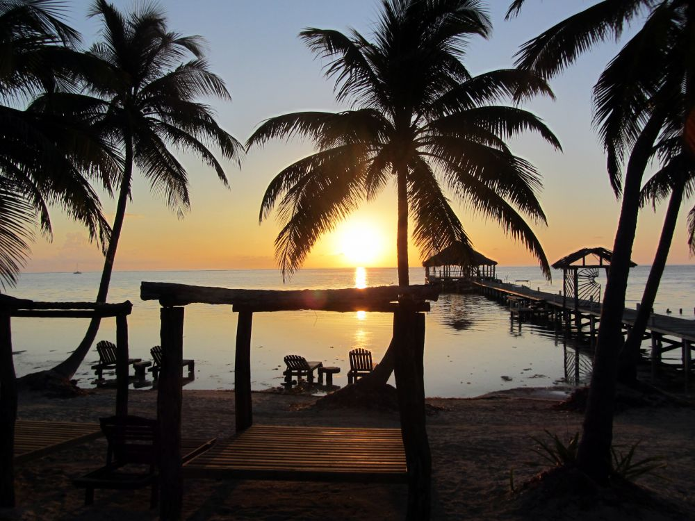 sunrise at ak'bol yoga retreat san pedro belize ambergris caye