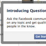 Facebook Questions: A Walled Garden of Echo Chambers